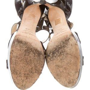 1b16ef22a1d Jimmy Choo Shoes - Black Vamp Strappy Multistrap Platform Gloss Heels